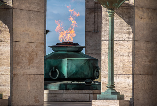 The Flame of National Flag Memorial (Monumento Nacional a la Bandera) - Rosario, Santa Fe, Argentina