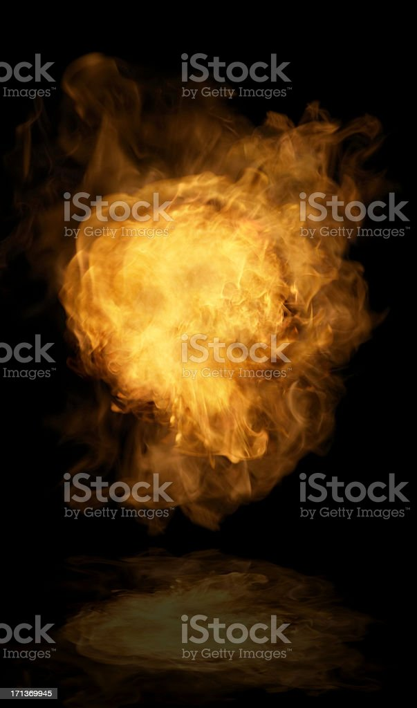 The flame stock photo
