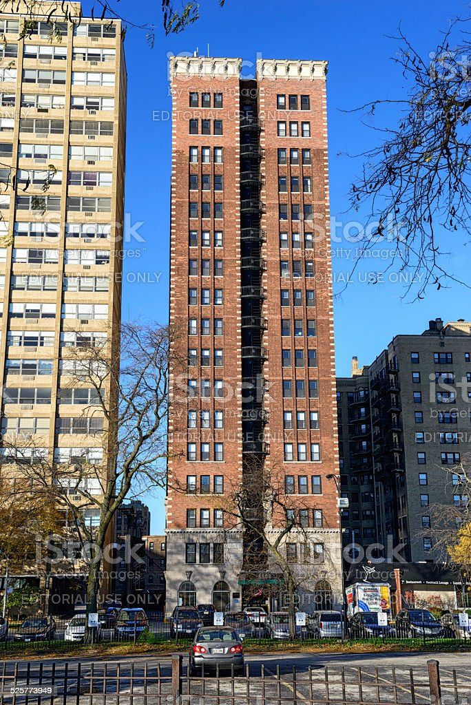 The Flamingo Apartments, Hyde Park, Chicago royalty-free stock photo
