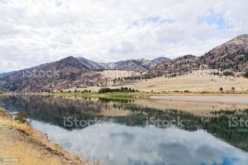 The Flathead River in Montana stock photo