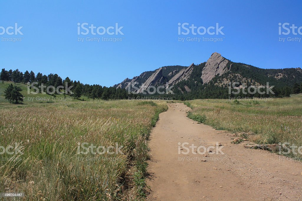 The Flatirons Trail stock photo