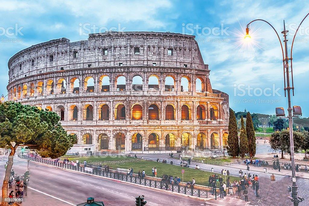 The Flavian Amphitheatre, aka Colosseum in Rome, Italy stock photo