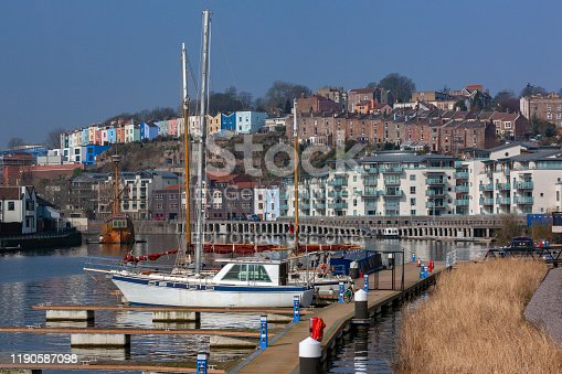 istock The Floating Harbor in the city of Bristol in southwest England 1190587098