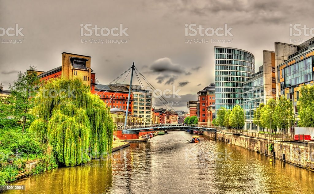 The Floating Harbour in Bristol - England, UK stock photo