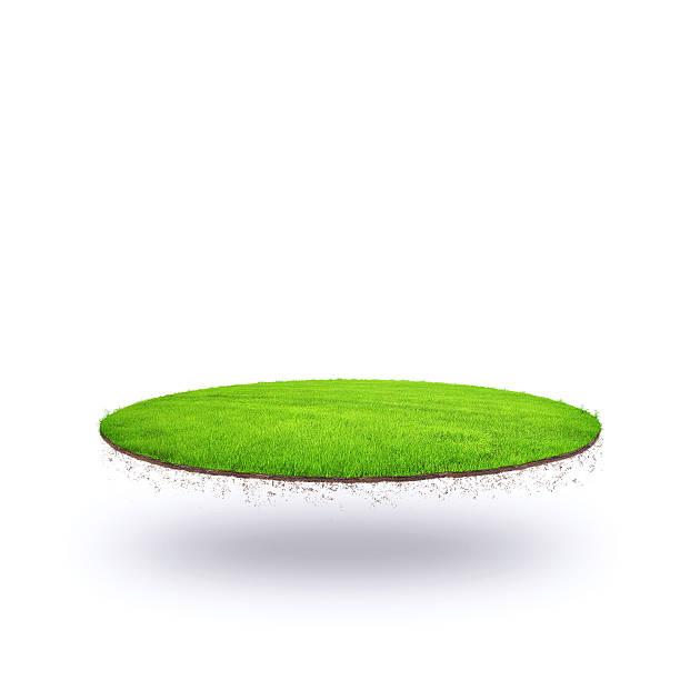 il floating island - grass isolated foto e immagini stock
