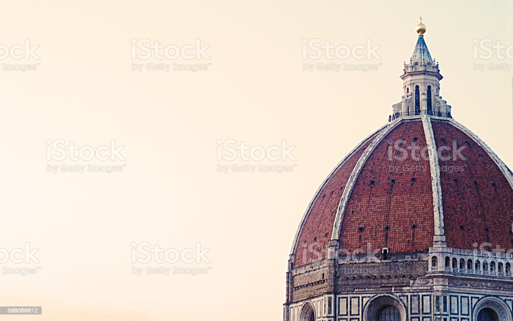 The Florence Cathedral Seen From The Rooftops of Florence stock photo