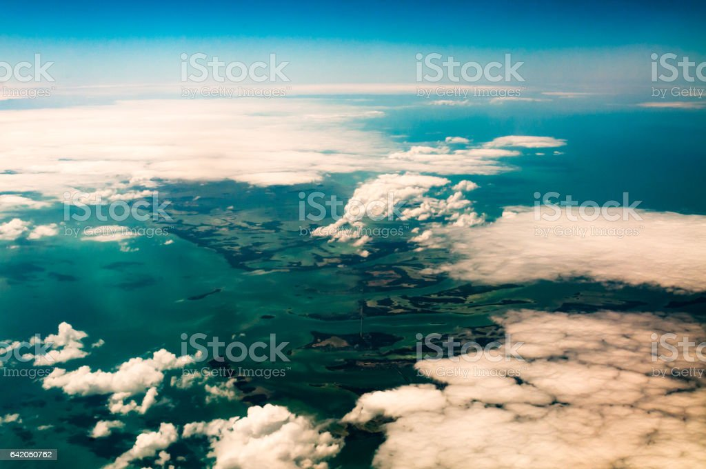 The Florida Keys, USA aerial views stock photo