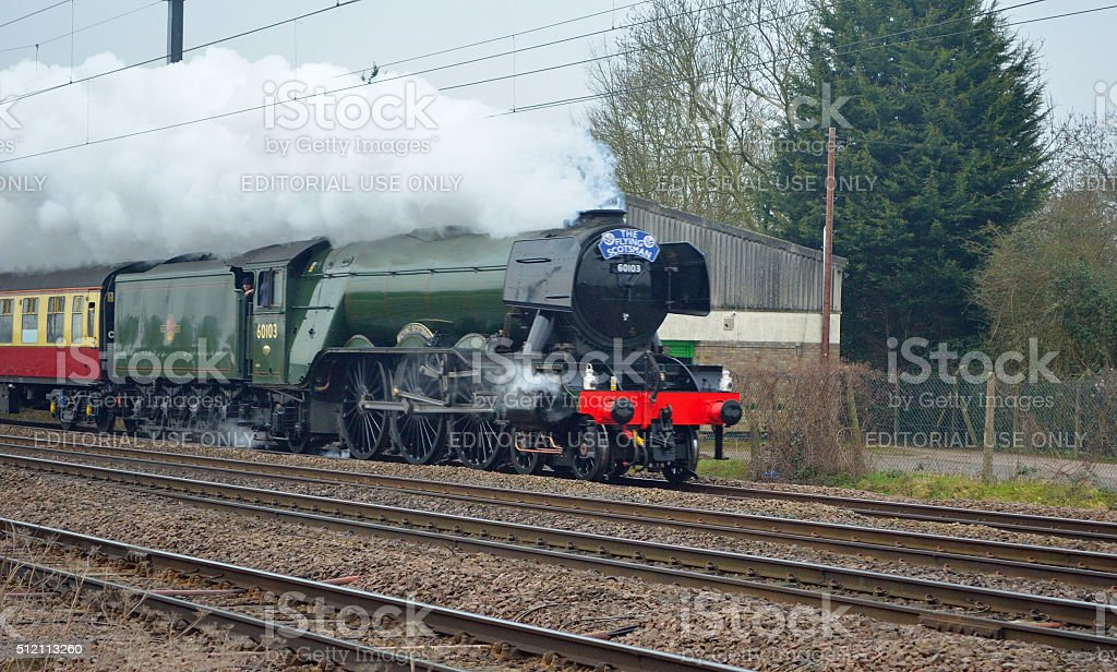 The Flying Scotsman stock photo