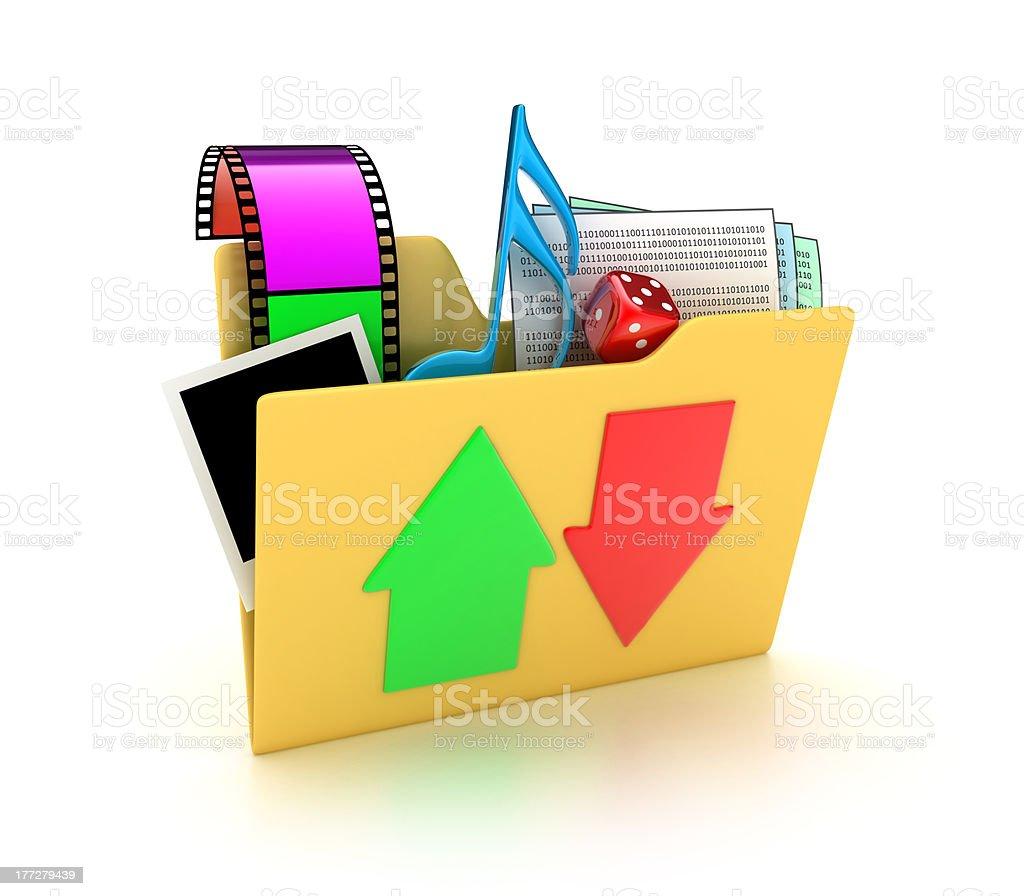The folder stock photo