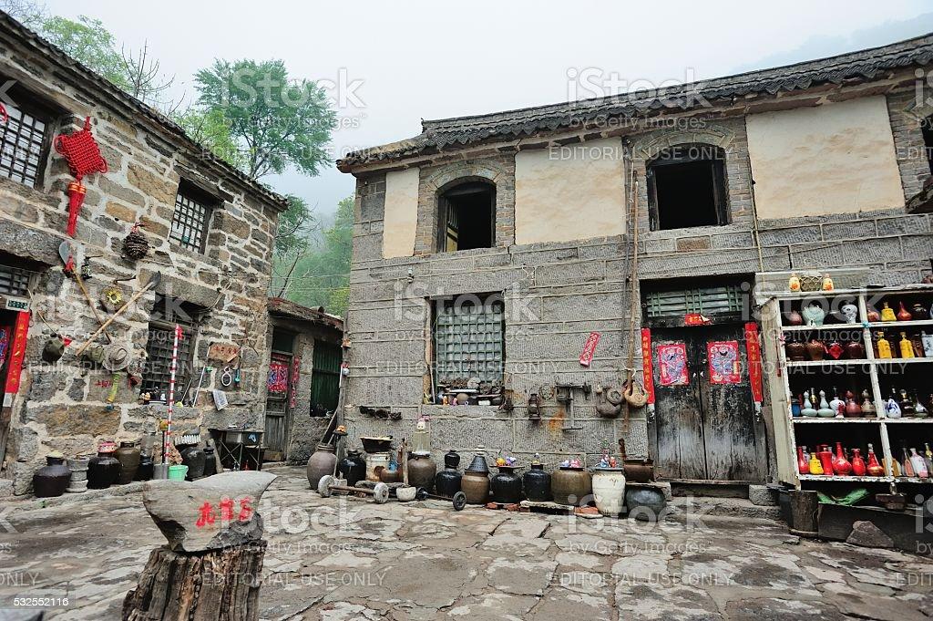 The folk custom museum in village 01 stock photo