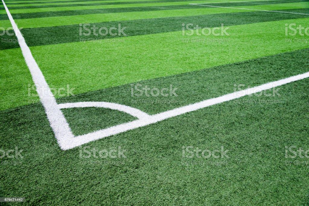 The football field corner stock photo