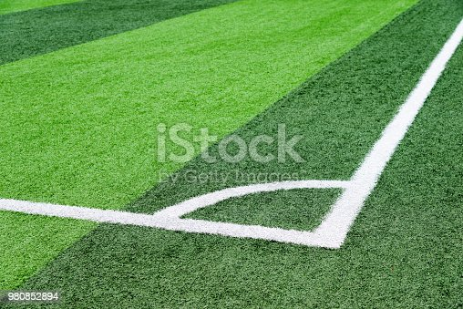 istock The football field corner 980852894