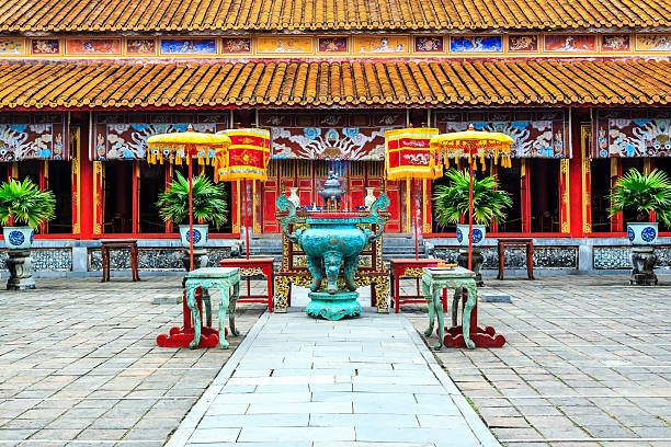 The Forbidden City at Hue, Vietnam The Forbidden City at Hue, Vietnam huế stock pictures, royalty-free photos & images