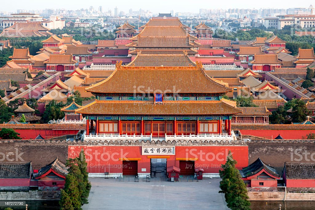 The Forbidden City - Beijing, China stock photo