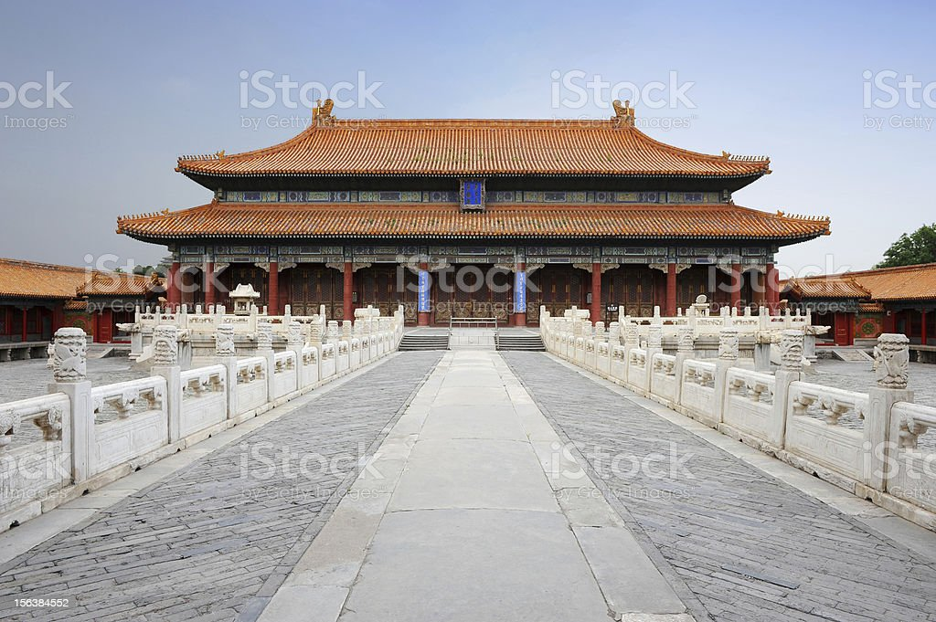 The Forbidden City ( Palace Museum ) in Beijing , China royalty-free stock photo