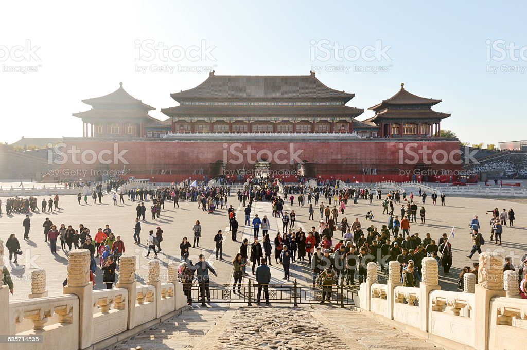 The Forbidden City in Beijing, China royalty-free stock photo