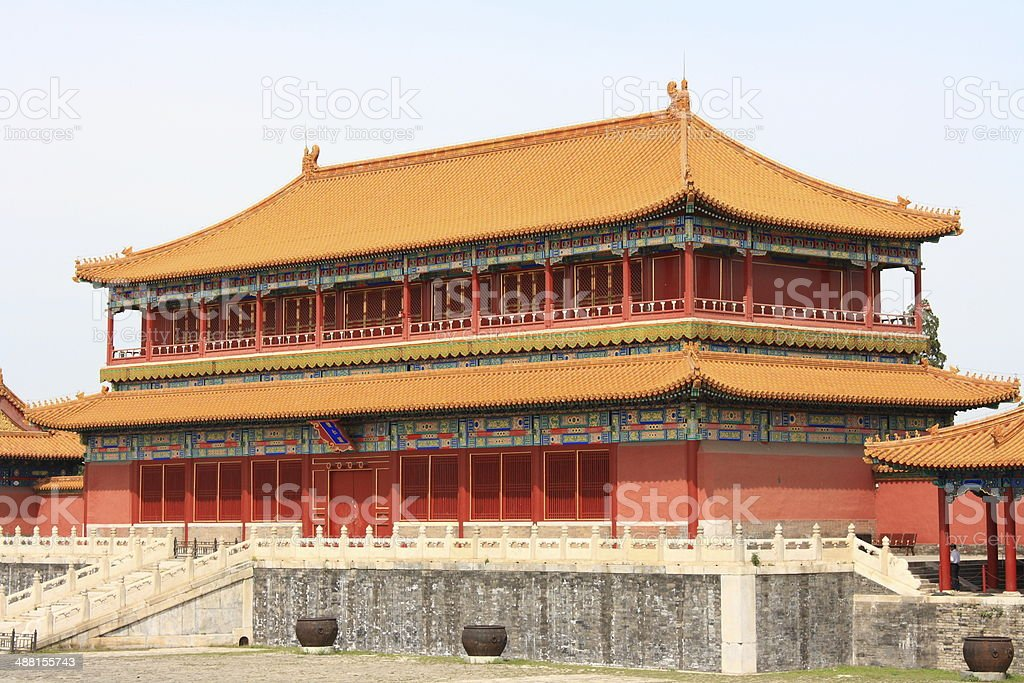 The Forbidden City in Beijing royalty-free stock photo