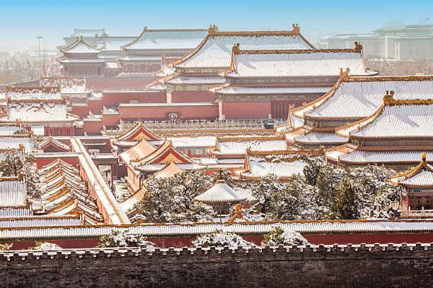 Die Verbotene Stadt im winter, Peking, China – Foto