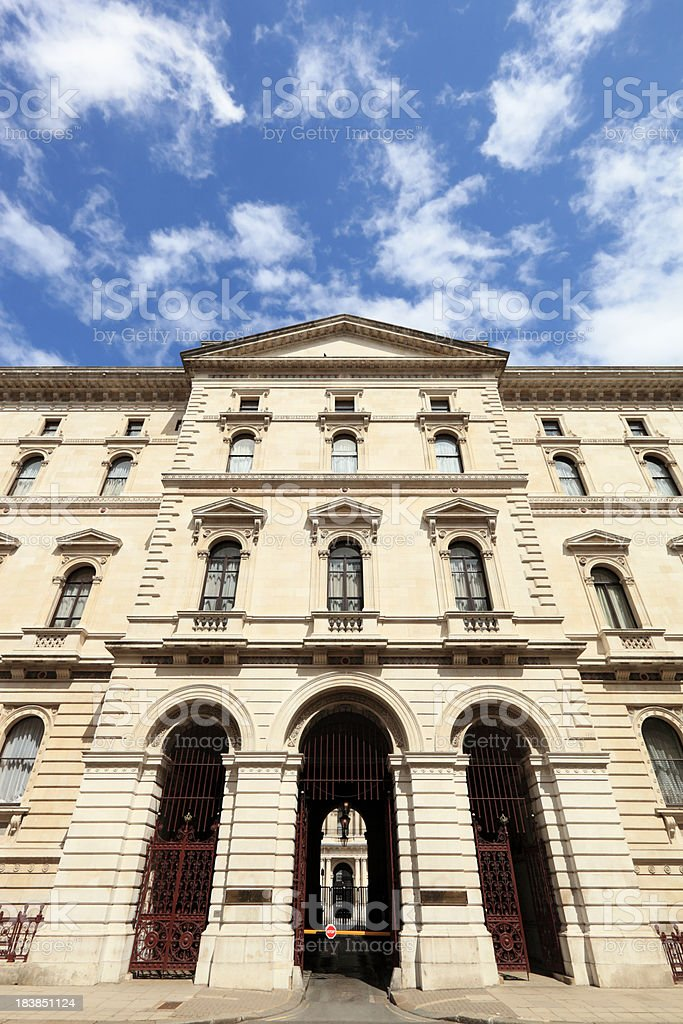 The Foreign Office in Whitehall royalty-free stock photo