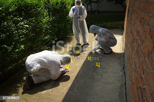 istock The forensic expert team at the crime scene 972638622
