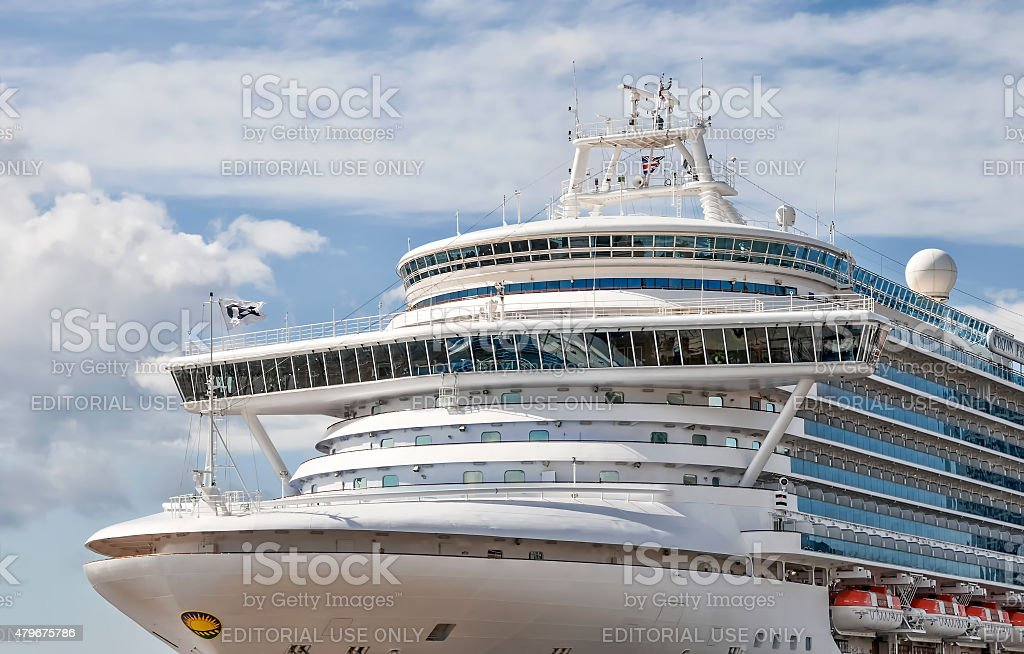 The foreward end of the crown princess. stock photo