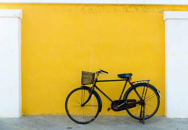 The forgotten bicycle, Pondicherry stock photo