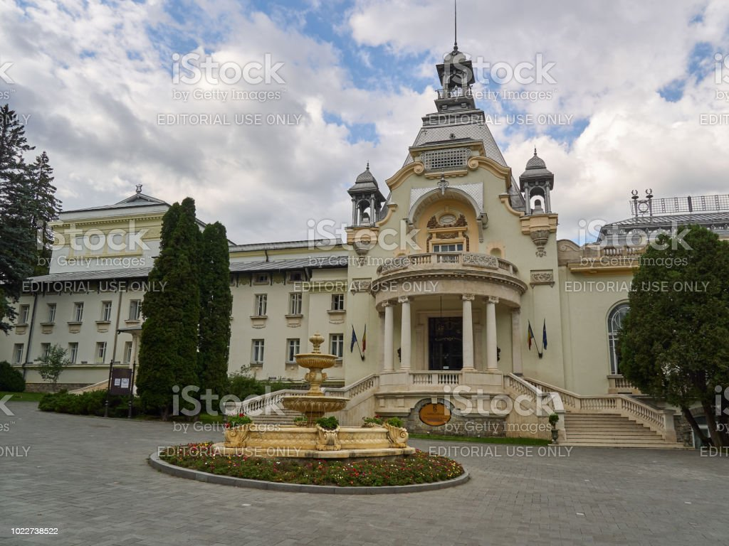 The former Casino in Sinaia in nowadays a conference center and venue for private events stock photo