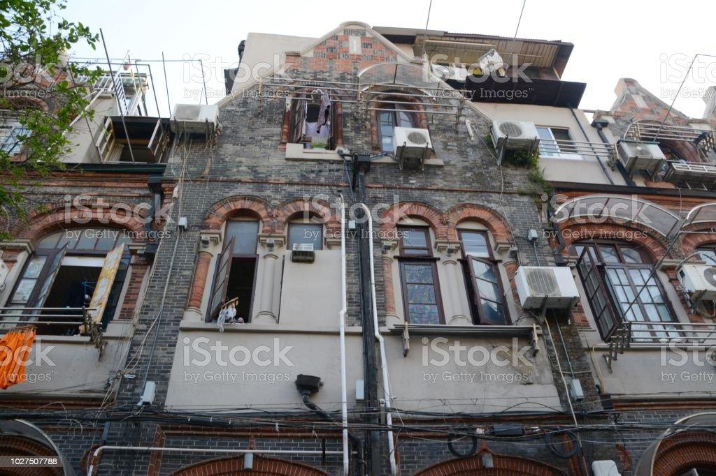 The former jewish ghetto in Shanghai, China stock photo