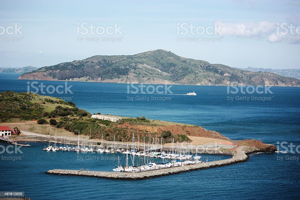 The Fort Baker area Sausalito, San Francisco stock photo