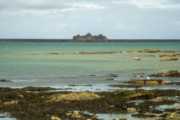 The Fort Central of the harbour at Cherbourg. Normandy, France Cherbourg-Octeville, France - August 27, 2018: The Fort Central of the harbour at Cherbourg. Normandy, France cherbourg stock pictures, royalty-free photos & images