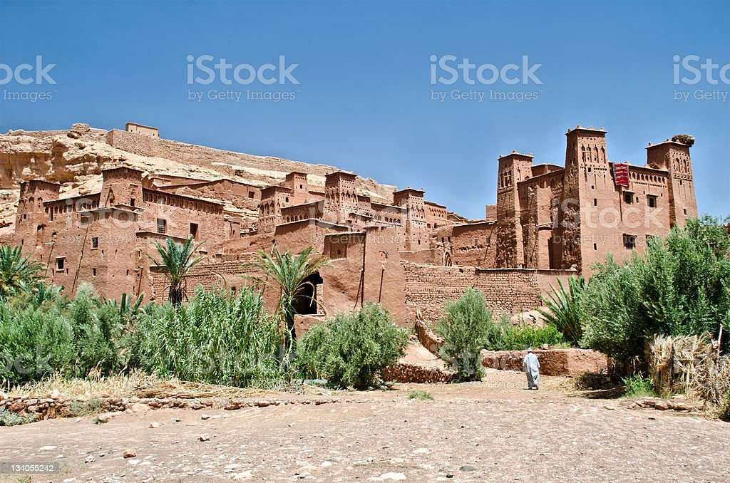 The Fort of Ait Benhaddou, Morocco royalty-free stock photo
