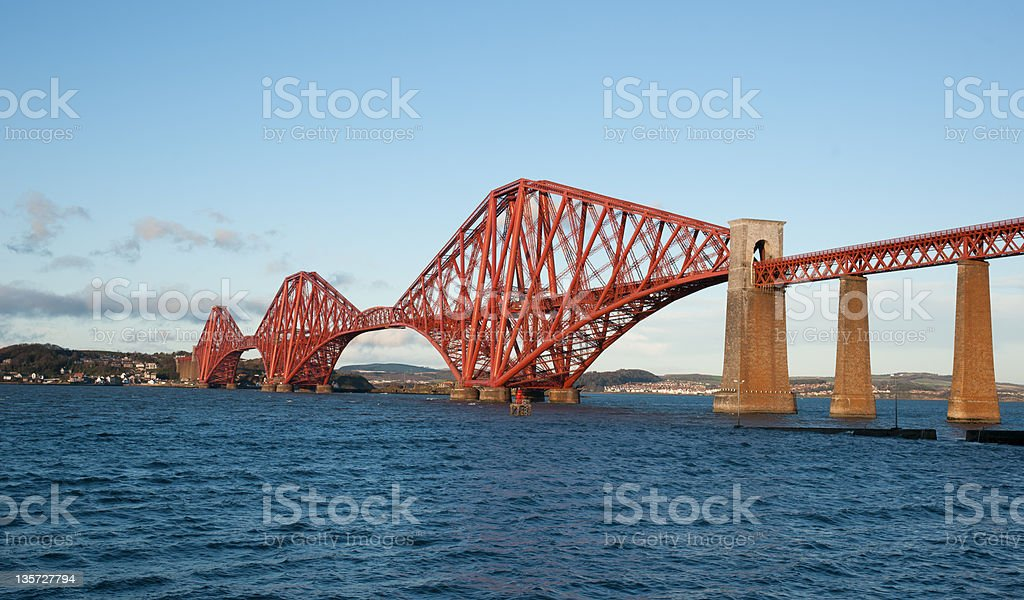 The Forth Bridge, Scotland, almost scaffolding free royalty-free stock photo