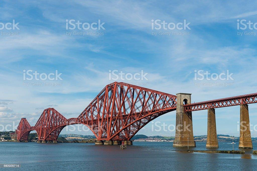 The Forth rail bridge over the Firth of Forth Scotland stock photo
