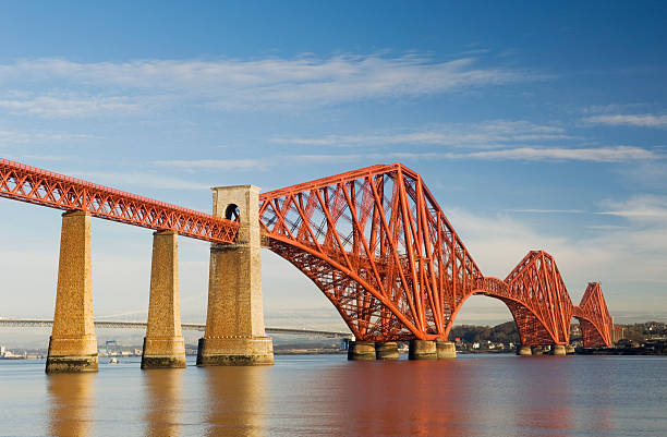 """The Forth Rail Bridge """"The Forth Rail Bridge which spans the Firth of Forth near Edinburgh, Scotland."""" railway bridge stock pictures, royalty-free photos & images"""