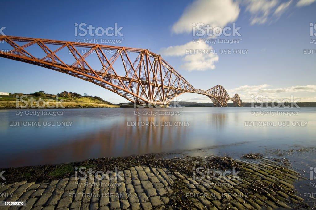 Queensferry, Firth of Forth, Edinburgh, Scotland - December 1, 2012: The Forth Rail Bridge stock photo