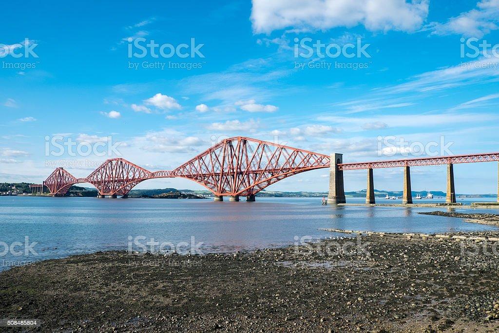 The Forth Railway Bridge, Scotland stock photo