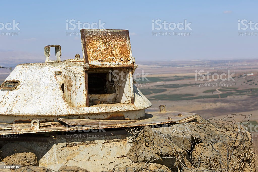 The fortifications on the border with Syria stock photo