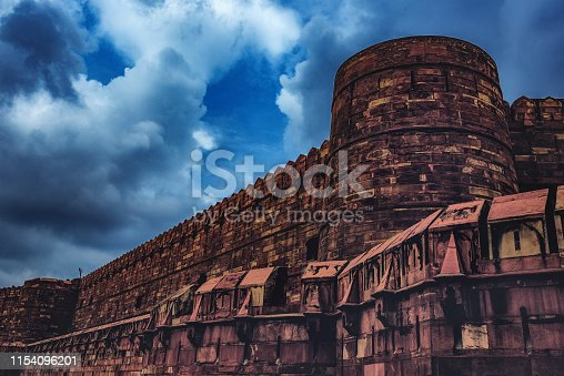 istock The Fortified Walls of the Agra Fort 1154096201