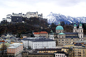 02/20/2020 - Salzburg, Austria\nThe Fortress Hohensalzburg was built in the 11th century. It is one of the main landmarks in the Old Town of Salzburg.