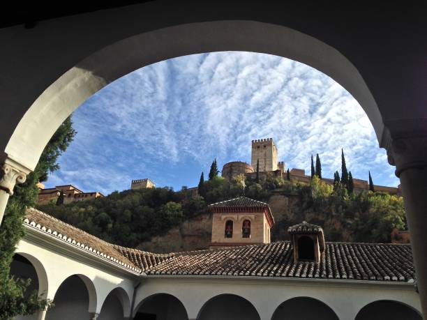 the fortress of granada - mcdermp stock pictures, royalty-free photos & images