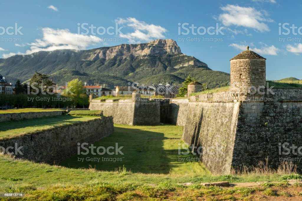 The fortress of Jaca, Soain stock photo