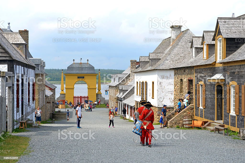 The Fortress of Louisbourg stock photo