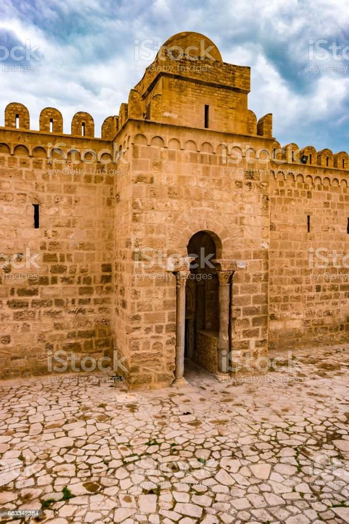 The fortress of Ribat of Sousse in Tunisia stock photo