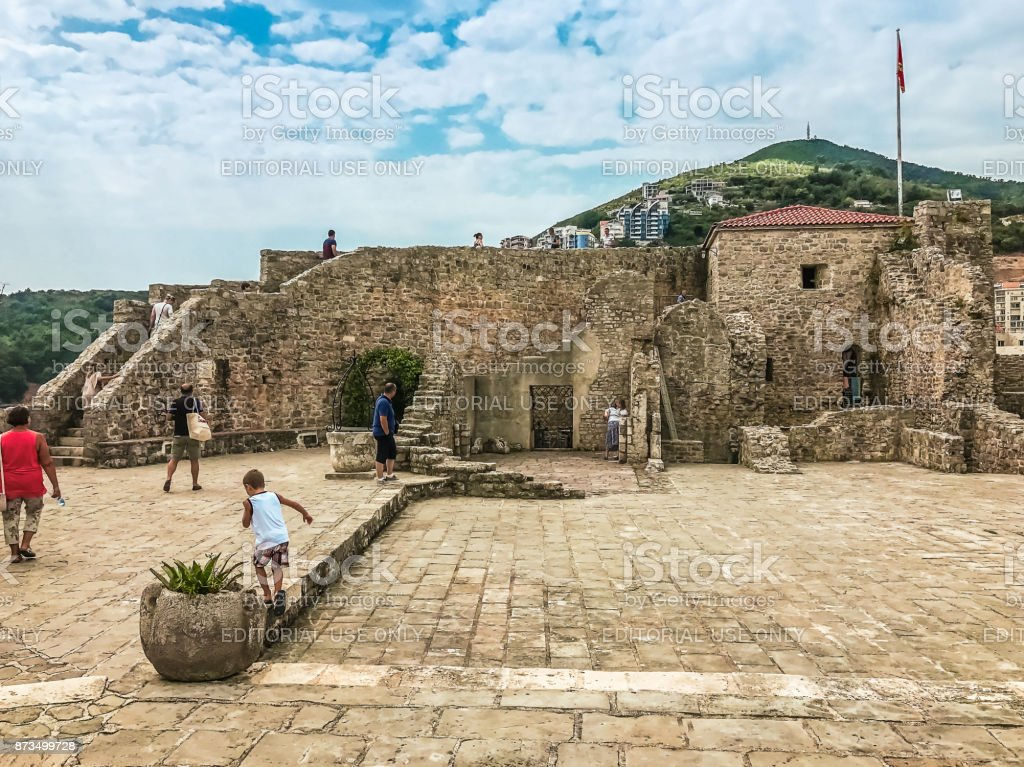The fortress of the Old Town of Budva, Citadel. stock photo