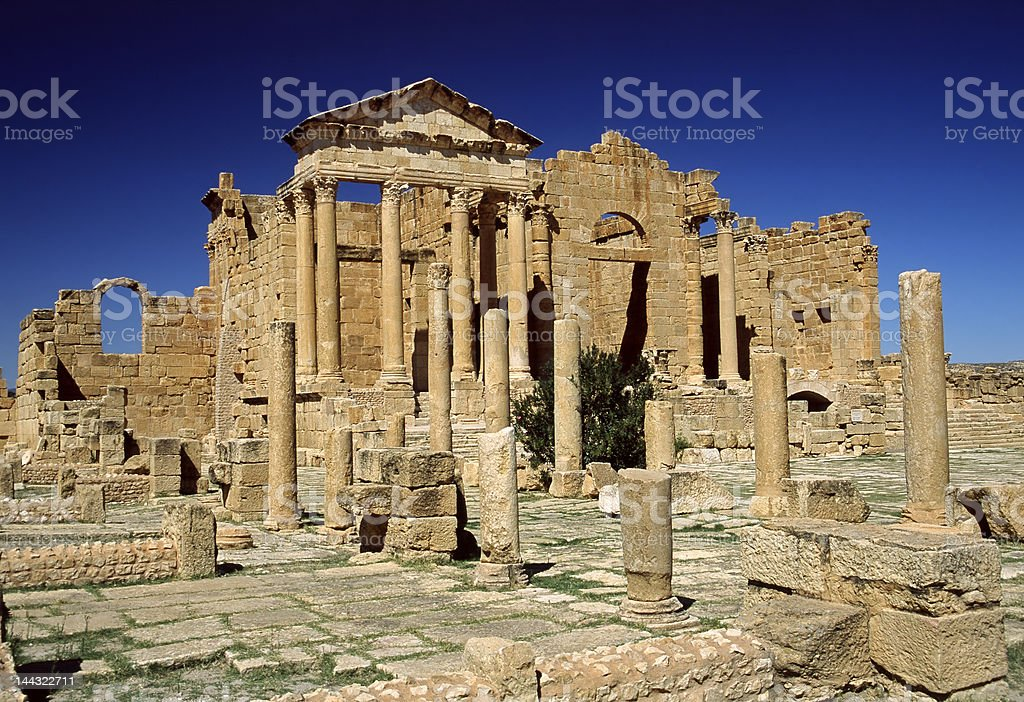 The forum in Sufetula royalty-free stock photo