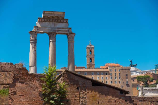 The Forum Pillars stock photo