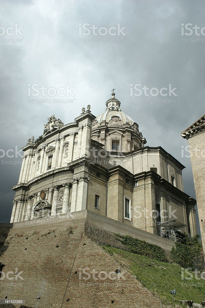 The Forum Romanum royalty-free stock photo