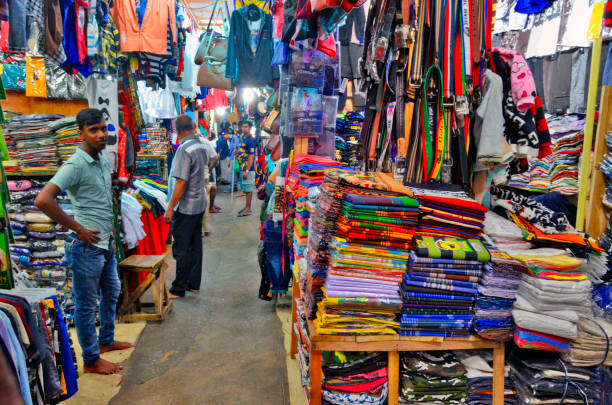 The FoSE Market at Pettah Market district in Colombo stock photo