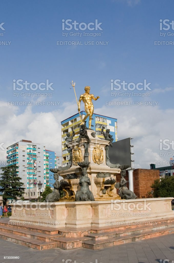 The fountain in the center of Batumi. Batumi is the capital of the Autonomous Republic of Adjara.The Republic Of Georgia stock photo