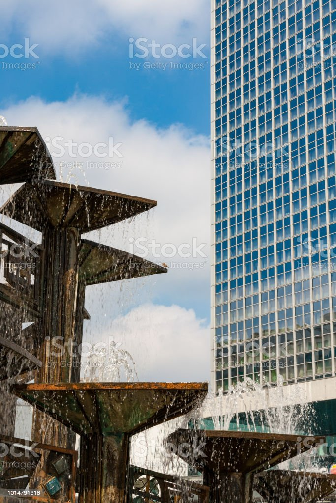 The Fountain of Friendship in Berlin during summer stock photo